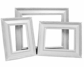 Picture Frame Picture Frame Set White Picture Frames Rustic Picture Frame Shabby Chic Custom Frame 8x10 5x7 4x6 Wood Frames Wall Decor