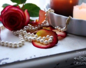 Roses and Pearls, fine art photograph print