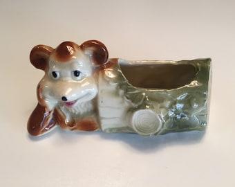 Mccoy Pottery Teddy Bear Planter/ Mid Century Planter/Stoneware Planter/ By Gatormom13  JUST REDUCED