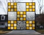 Stained Glass Suncatcher Quilt Block Irish Chain