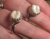 Tooth Fairy Series: Real Human Molar Sterling Silver 925 Stamped Adjustable Ring