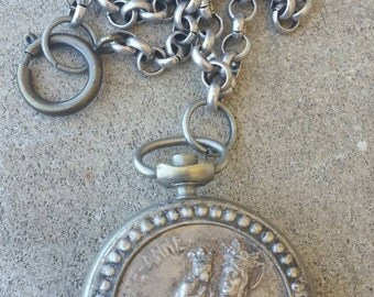 Ste Anne French Reliquary Locket