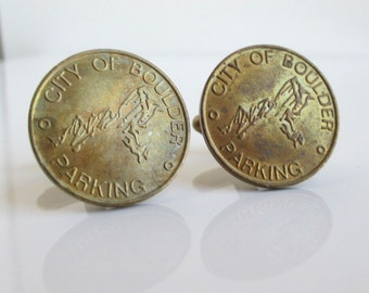 BOULDER, CO Token Cuff Links - Vintage Repurposed Coins