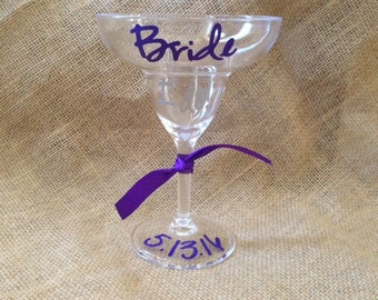 Bachelorette Bride Personalized Margarita - ACRYLIC margarita glass
