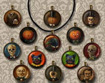 Victorian Gothic Skeleton and Steampunk Necklaces