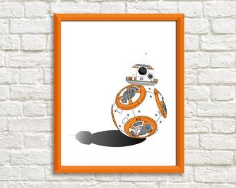 Star Wars BB-8 Minimalist Print
