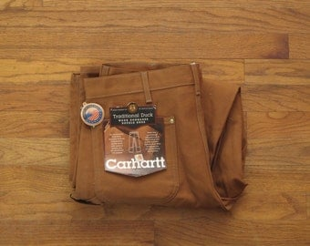 vintage made in the USA Carhartt duck canvas logger pants new with tags