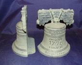 Virginia Metalcrafters BiCentennial Cast Iron Bookends Liberty Bell Philadelphia