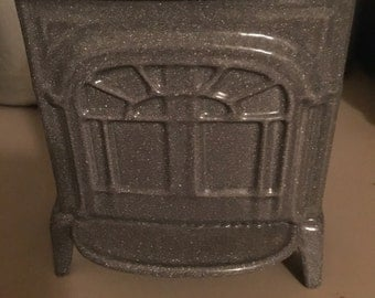 VERMONT CASTINGS Stove Bank Cast Iron Gray Great Collectible!