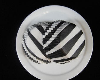 Zebra Print Mini Cupcake Liners, Mini Baking Cups, Mini Muffin Papers, Candy Paper, Cake Pop Papers, Truffle Cases  - QTY. 25