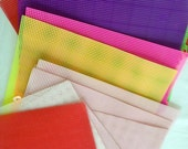 Plastic Canvas Sheets – 12 sheets – Clear, Pink, Purple, Lime Green, Red