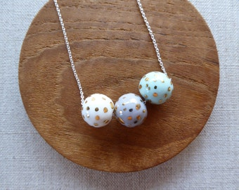 Speckled Gold Ball Necklace