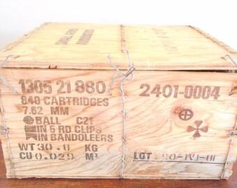 Vintage Wood Ammunition Box
