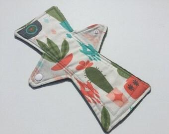 10 Inch Cloth Menstrual Pad Regular Flow Cactus