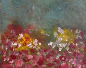 Large Abstract Painting abstract painting abstract garden  When We Wish 24 x 24  Swalla Studio