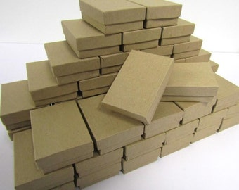 100 Pack Kraft Boxes (3.25 x 2.25 x 1 in) // ECONOMY SIZE //
