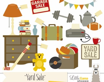 Yard Sale Clipart, Garage Sale Clip Art, Rummage Sale Clip Art, Tag Sale, Flea Market, Boot Sale, Moving Sale, Jumble Sale