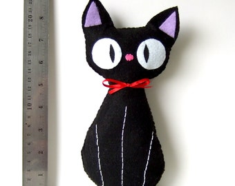 BIG Jiji (from kiki's delivery service by studio ghibli) Black cat plushie cosplay