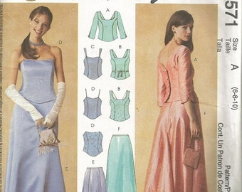 McCall's 3571 Misses Evening Elegance Skirt and Top Pattern SZ 6-10  CLEARANCE ITEM