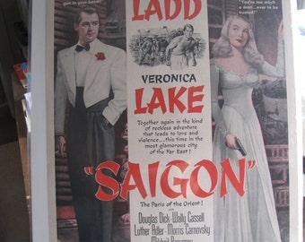 1948 Alan Ladd Veronica Lake Saigon Magazine Ad Cinema Movies Movie Stars