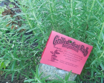 Grilled Meat Rub Mix, Hand-blended salt-free dry Herb Mix for grilling and cooking