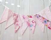 Birthday banner fabric girl , owl banner , hello kitty birthday , birthday banner , birthday garland, Christmas decorations, christmas flags