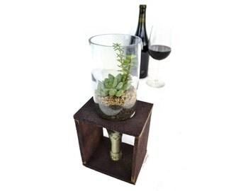 MODERMO - Cruet - Wine Tank Wood and Glass Terrarium