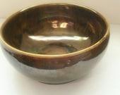 Small Metallic Glazed Ceramic Bowl Earthenware