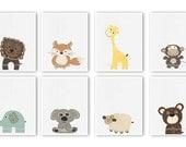 Safari Nursery Art, Set o...