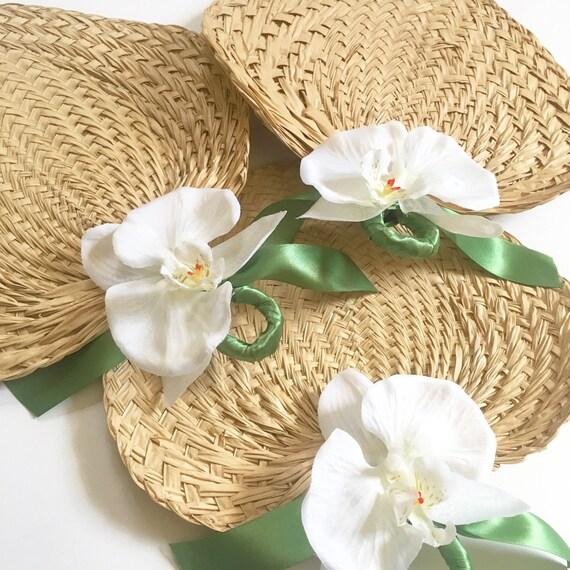 Wedding Fan: Palm Leaf Hand Fans Raffia Fans Wedding Fans Buri Fans