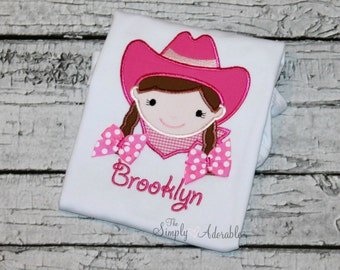 Personalized Cowgirl Shirt, Girl's Cowgirl Shirt, Cowgirl Tee,  Cowgirl Birthday Shirt, Farm Birthday, Rodeo Shirt