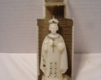 Vintage Christ the King - Plastic Wall Hanging Shrine - C.M.P.C. 1952 Religious