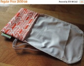 Earth Day Sale A GoSewEco Original Design Reusable Cheese Cover / Red Feather