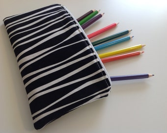 Zippered Case, Pencil Case, Vinyl Lined Makeup Case, Coworker Gift, Tampon Case, Purse Organizer, Gift Under 15, Your Choice