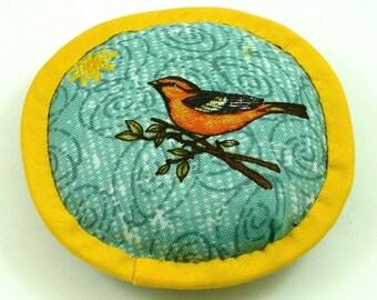 Catnip Toy Birds, Bird Cat Toy, Cat Bird Toy, Little Orange Birds, Bird Cat Pillow, Aqua and Marigold Cat Pillow, BIRD 'N SWIRLS