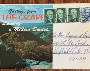 Vintage Souvenir Fold-Out Post Card Booklet from The Ozarks Land of a Million Smiles Vintage Photography