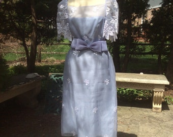 Vintage 1970's periwinkle dress