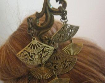Beautiful Antiqued Brass Hair Stick