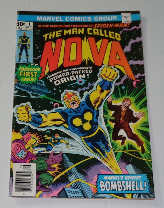 Vintage 1976 Marvel Comics NOVA The Human Rocket 1 bronze age