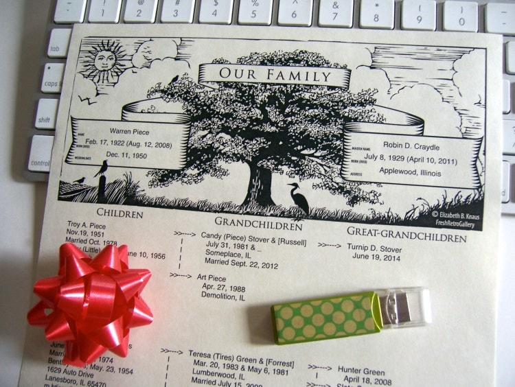family tree descendant chart printable pdf by freshretrogallery