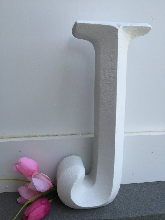 Items similar to wall decor large letter shabby chic for J letter decor