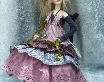 "Mori style Lavender Blue dress for Dollstown 13yr SD and similar 60cm/24""BJD"