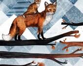 Fox Wood // Signed A3 print