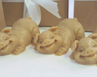 3 Pig Soap - cream pig soap, gift for teen, hostess gift, stocking for her, stocking stuffer for kids