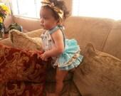 Baby Halter Romper, Baby Sunsuit, Bubble Romper, Ruffle Bottom, Girl Clothing, Halter Romper, Ruffles, Birthday Clothing, Summer, Gift, Baby