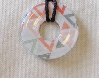Southwestern Design Necklace, Southwestern Colors Jewelry, Geometric Design