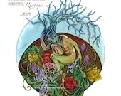 "Sticker - ""Riotous"" Mandala (with Rumi quote)"