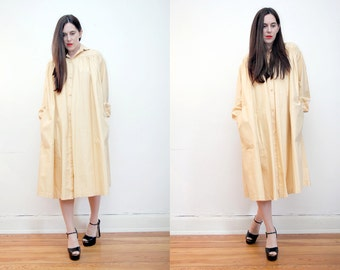 Vintage  Trapeze Trench Mac Princess Dress Swing Duster Coat