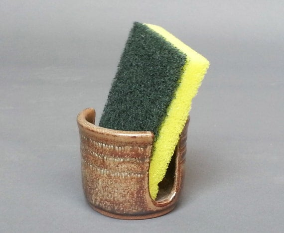 Sponge Holder Green Bronze Brown EACH ONE UNIQUE