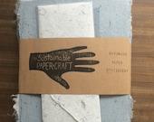 Stationary Sets - Blue Cotton Handmade Paper